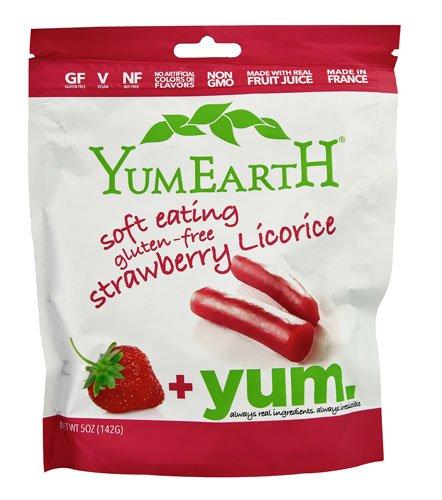 Yummy Earth YumEarth Soft Eating Licorice Gluten Free Strawberry -- 5 oz - 2 pc
