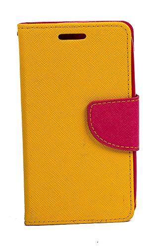 Videotronix Generic Mercury Flip Case Cover Pouch for LG Google Nexus 5 E980  Yellow/Pink
