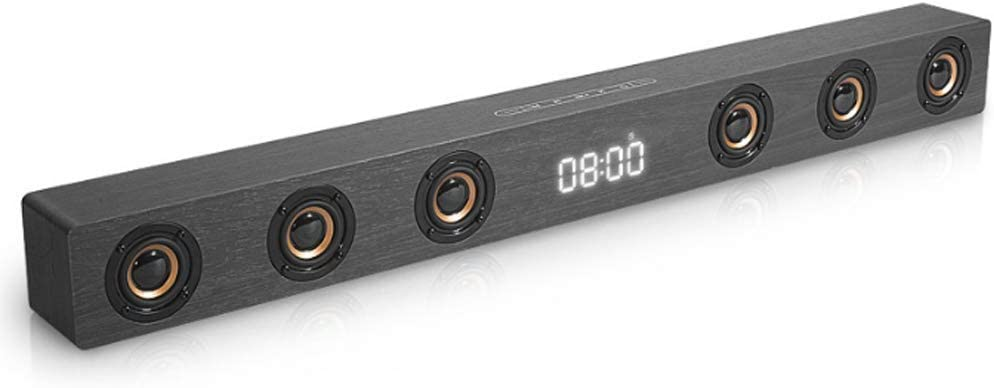 Barras de Sonido con subwoofer Soporte Integrado Pantalla de Reloj Rango Completo 6 parlantes Soporte RCA AUX HDMI para TV Cine en casa Gris: Amazon.es: Hogar