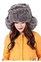 "Modovo Thick and Warm Trapper Snow Hat With Ear Flap for Skiing,Head Cricumference 22""-22.8""(Smoky Gray)"