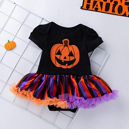 Zolimx Festa Mesi Da Vestiti Halloween Bow Dress 3 2018 Abiti shirt Halloween 8 5 Zucca Ragazze Neonato Mesi Toddler T Infant Baby rrnaFqO
