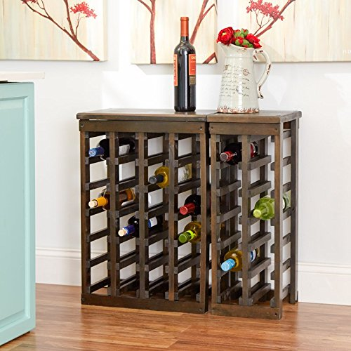 Garris 24 Bottle Floor Wine Bottle Rack