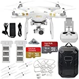 DJI Phantom 3 4K Quadcopter Aircraft with 3-Axis Gimbal and 4k Camera, & Manufacturer Accessories, DJI Propeller Set, Water-Resistant Hardshell Backpack, MORE