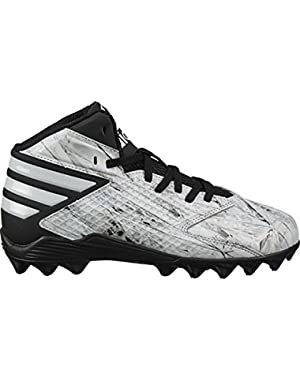 Freak Mid Junior Football/Lacrosse Cleats B49388 - White/White/Platinum