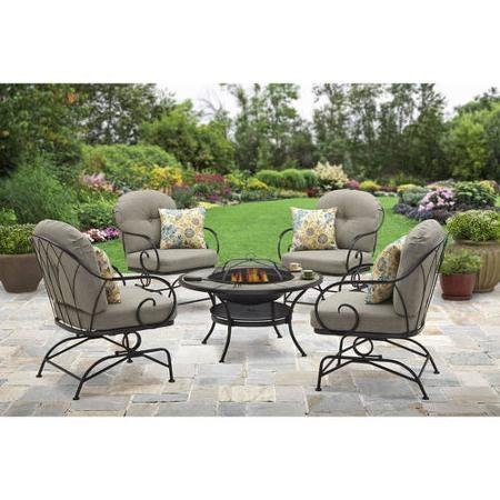 Captivating Better Homes And Gardens Myrtle Creek 5 Piece Fire Pit Chat Set