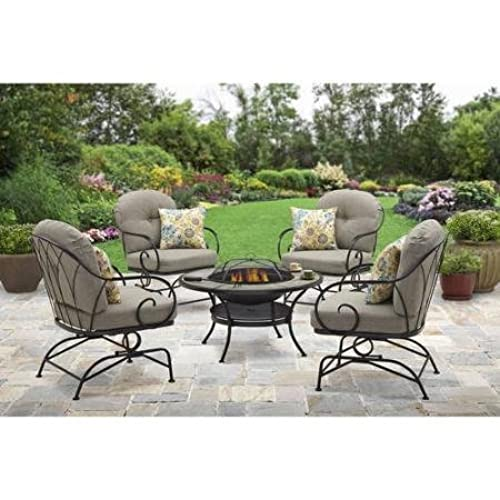 Better Homes And Gardens Myrtle Creek 5 Piece Fire Pit Chat Set