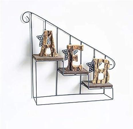 LCPG Adornos de época en Forma de Escalera de Hierro Forjado en Forma de Flor en la Pared en Rack de múltiples Capas en Maceta (Color : Blanco): Amazon.es: Hogar