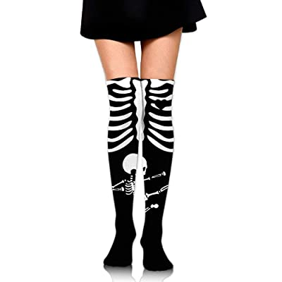 yiyuanyuantu Skeleton Pregnant Dress Legging Casual Compression Stocking 50CM: Deportes y aire libre