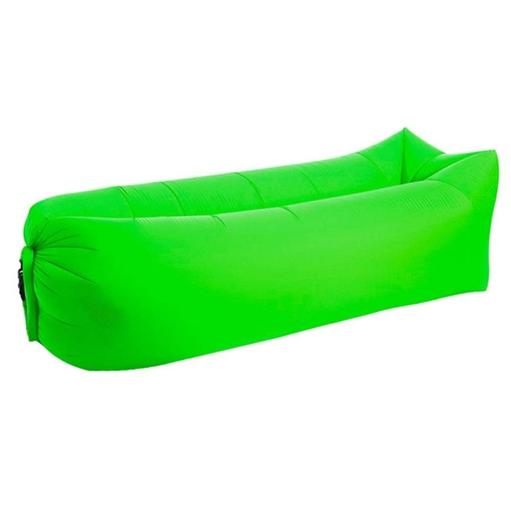 Peninsula Iron Box Camping mat Lazy Bag Lazy Outdoor Camping Lazy Couch Beach Picnic mat Inflatable Sofa Bed Bean Bag air Sofa Leisure Cushion sdaijeuh787 (Color : Green) by Peninsula Iron Box