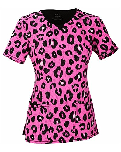 Animal Print Scrub Tops (Infinity by Cherokee Women's V-Neck Animal Print Scrub Top Medium Print)