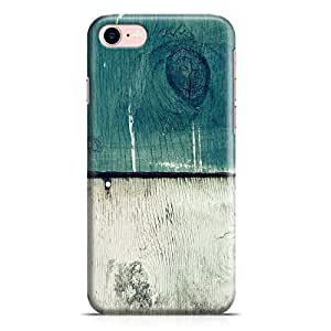 Loud Universe iPhone 7 Case Green White 2 Tone Aged Barn Wood Print Clear Edge Durable Wrap Around iPhone 7 Cover