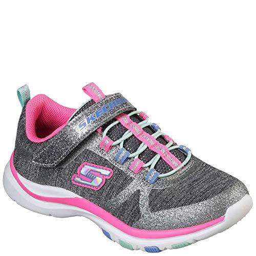 Skechers Kids Girls' Trainer LITE-Jazzy Jumper Sneaker, CCHP, 3 Medium US Little Kid (Girls Trainers Childrens)