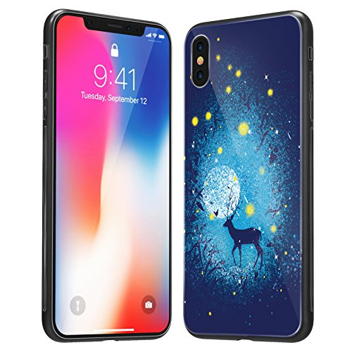 iPhone X Case, iPhone 10 Case, Soft TPU Case with Anti-Scratch Tempered Glass Back cover and Anti-slip overall protection Bumper for Apple iPhone X (Pere David's (Soft Back Cover)