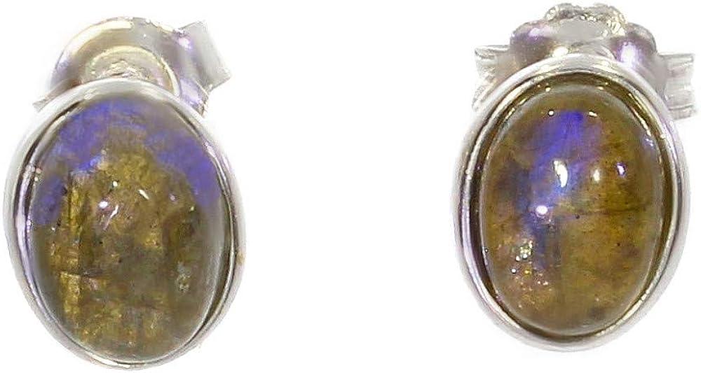 ARTIPOL Pendientes con Artesania europea estilo francés - Bisutería de plata E-18-02 - Muchos piedras disponibles