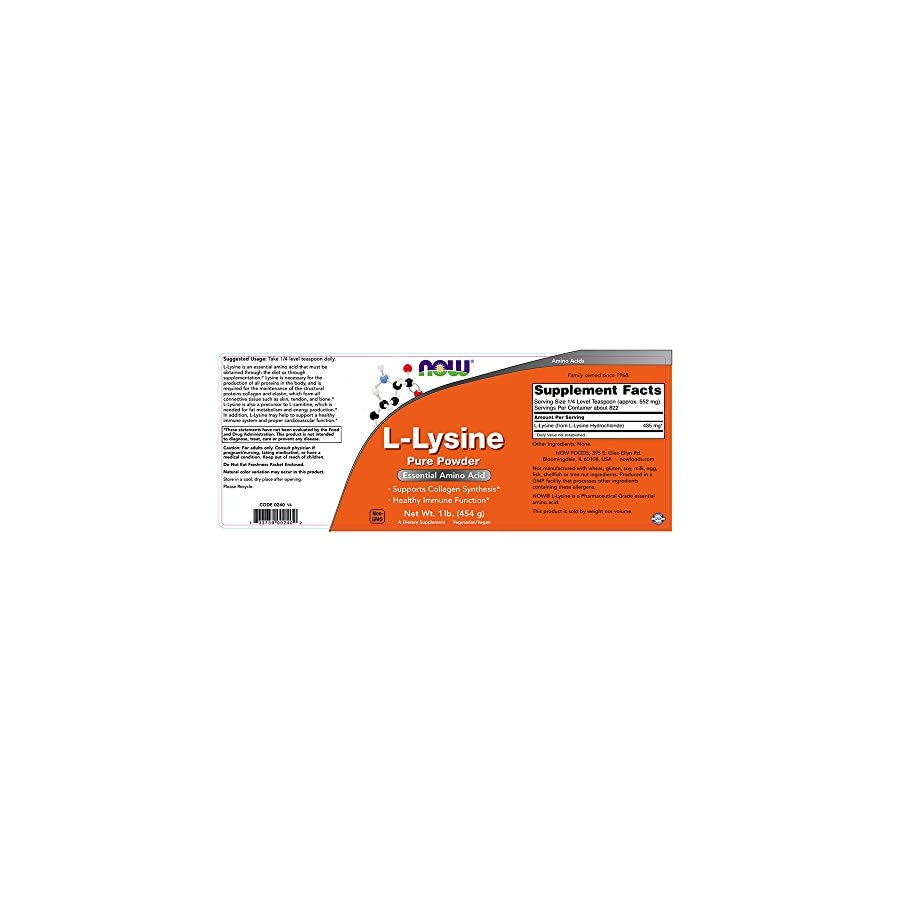 NOW L Lysine Powder, 1 Pound