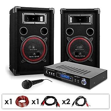 """Sistema DJ •""""DJ-10"""" 1000 W • Incluye altavoces amplificadores y"""