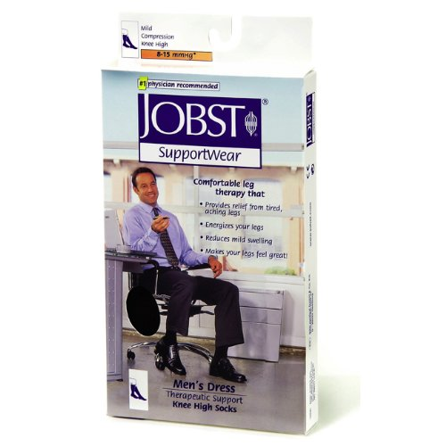 Jobst Dress - Business or Casual Wear for Men Mild Compression Over-the-Calf (Knee High) XL Brown