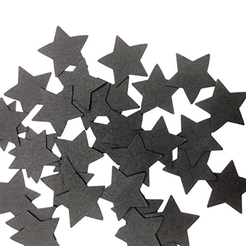 Hemarty 100pc birthday decorations black star confetti, twinkle twinkle birthday party decor, table scatter, baby shower table decorations, star confetti