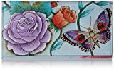 Anuschka Hand Painted Leather Women'S Checkbook Cover, Roses d'Amour