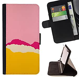For Samsung Galaxy S6 EDGE Pink Purple Tear Yellow Abstract Colors Style PU Leather Case Wallet Flip Stand Flap Closure Cover