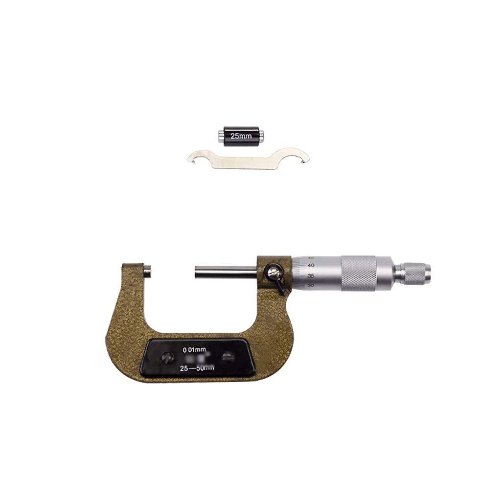 Colo Microm/ètres dint/érieur Microm/ètre 0-25-50-75-100mm Diam/ètre ext/érieur Microm/ètre Vis Microm/ètre Centim/ètre Instrument de mesure de l/épaisseur 50-75 Microm/ètres dint/érieur