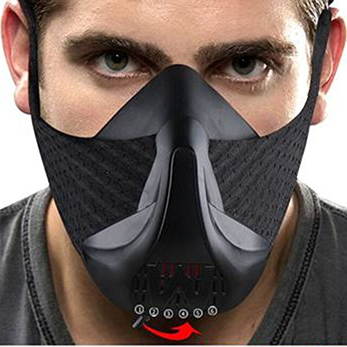 HARDK Sport Training Workout Mask Running Biking Training Fitness, Achieve High Altitude Elevation Effects 6 Level Air Flow Regulator by HARDK