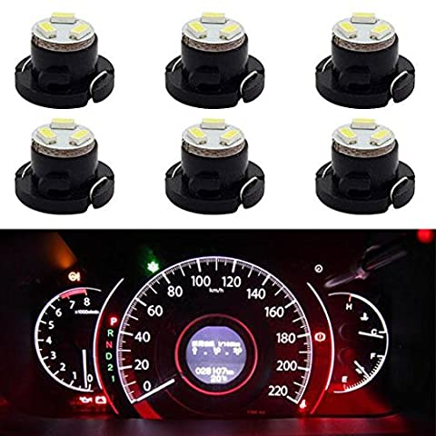 Partsam 6x White 3 SMD LED 12mm 12V T4.7 Neo Wedge Light Bulbs Dashboard for Dodge Grand Caravan (2002 Dodge Ram 2500 Dashboard)