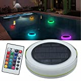Solar Swimming Pool Light,LED RGBW Garden Party Bar Decoration Light 7 Color Changing IPX68 Waterproof Pool Pond Floating Light With Remote Control for Birthday Decoration