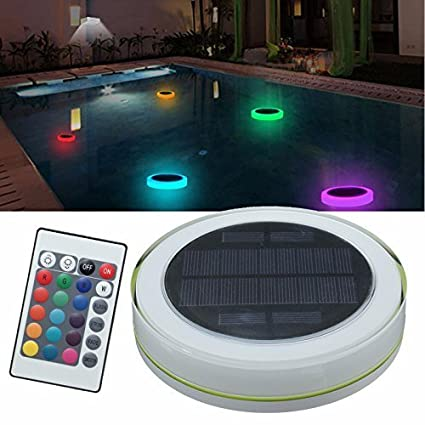 Solar Swimming Pool Light,LED RGBW Garden Party Bar Decoration Light 7  Color Changing IPX68 Waterproof Pool Pond Floating Light With Remote  Control ...