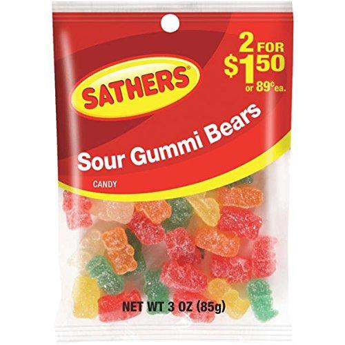 3oz Sour Gummi Bears Pack of 12