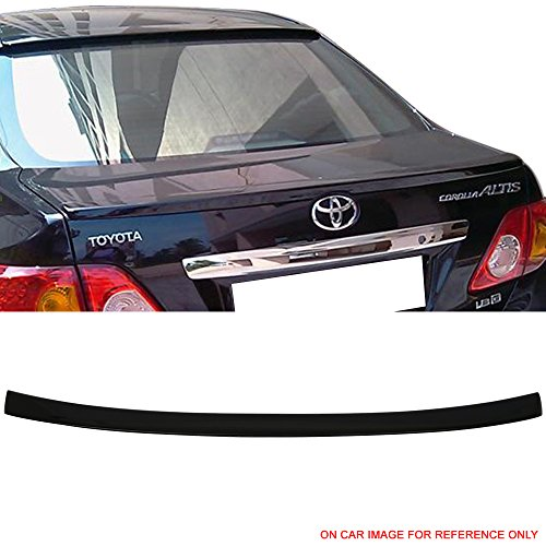 (Pre-painted Trunk Spoiler Fits 2009-2010 Toyota Corolla | OE Factory Style ABS Painted # U209 Black Sand Pearl Rear Trunk Boot Lip Wing Deck Lid Other Color Available By IKON MOTORSPORTS)