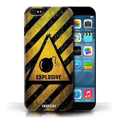 KOBALT® Hülle Case für Apple iPhone 6/6S | Explosiv Entwurf | Warnung Zeichen Kollektion