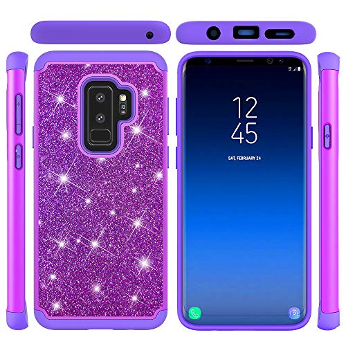 Samsung Galaxy S9 Plus Case Bumper Cover Ultra Slim &Thin Hard PC Cover Body Protective Back Case Shell Non-Slip Case with Excellent Shockproof Cover Phone Protector Case,Purple
