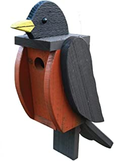 product image for DutchCrafters Wood Bird Shaped Birdhouse (Robin)