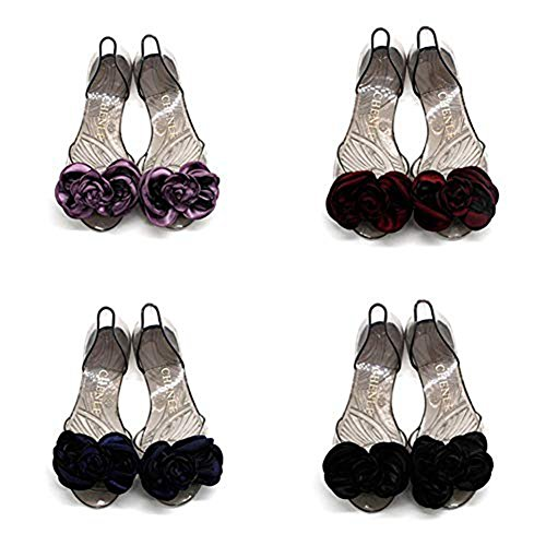 Peep Transparent Crystal Flat Clear T Rose Sandals Women's Butterfly Slides Comfy Beach Toe Jelly JULY Black Sweet UnvTqPv