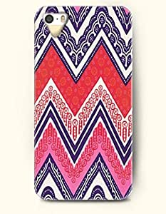 OOFIT Aztec Indian Chevron Zigzag Native American Pattern Hard Case for Apple iPhone 5 5S ( iPhone 5C Excluded ) Blue Ethic Chevron Print