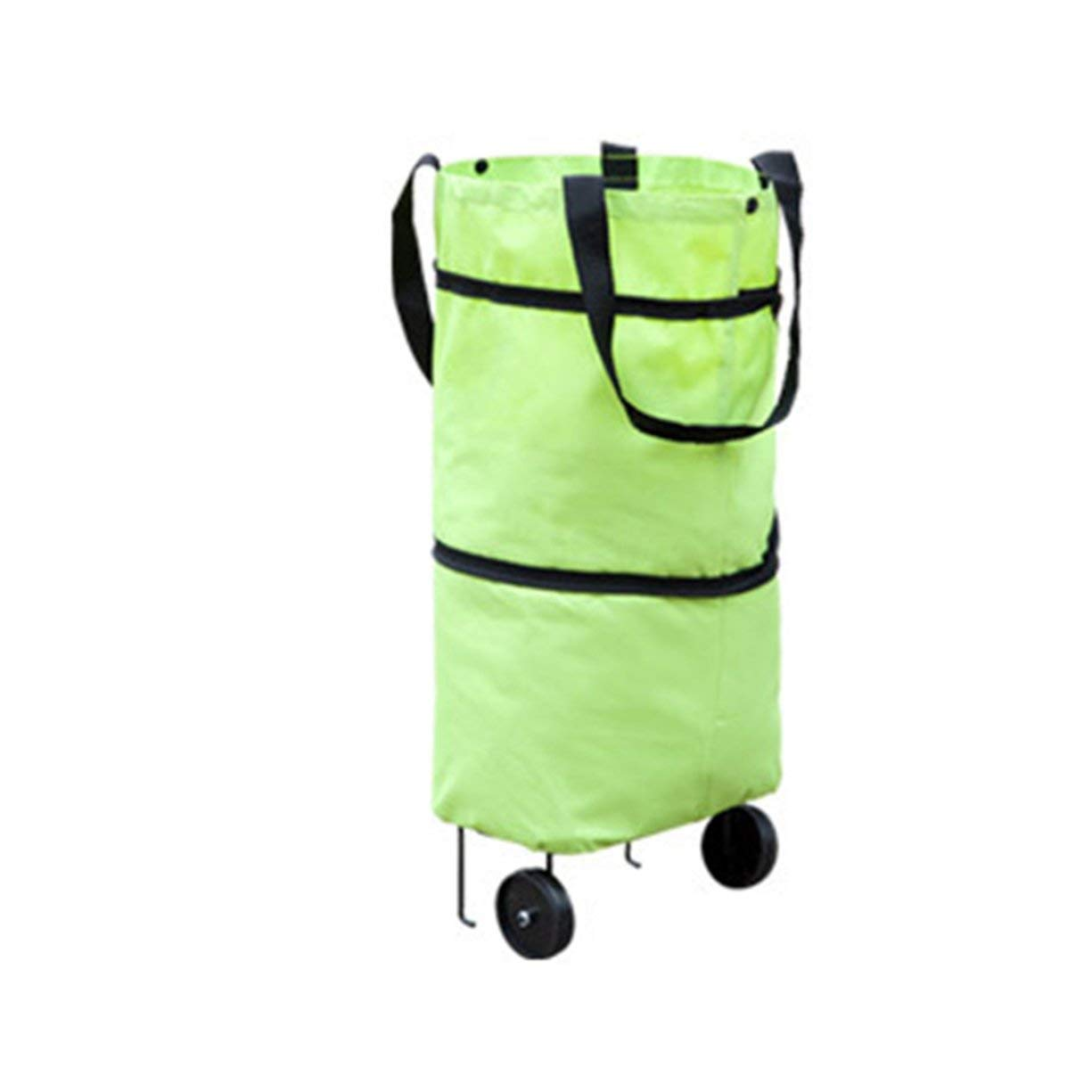 Shopping Trolley Wheel Bag,Fashionable Design Large Capacity Waterproof Oxford Cloth Foldable Shopping Trolley Wheel Bag Traval Cart Luggage Bag