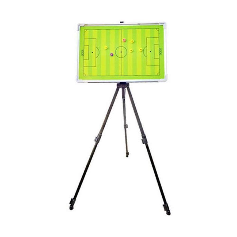 作戦盤/指導クリップボード 多機能デュアルパーパスボードサッカーバスケットボールアルミ合金ブラケットコーチマーカーボード磁気色デモサッカーボード付きペン磁気チェスの駒 (色 : One color, サイズ : 65*40cm) One color 65*40cm