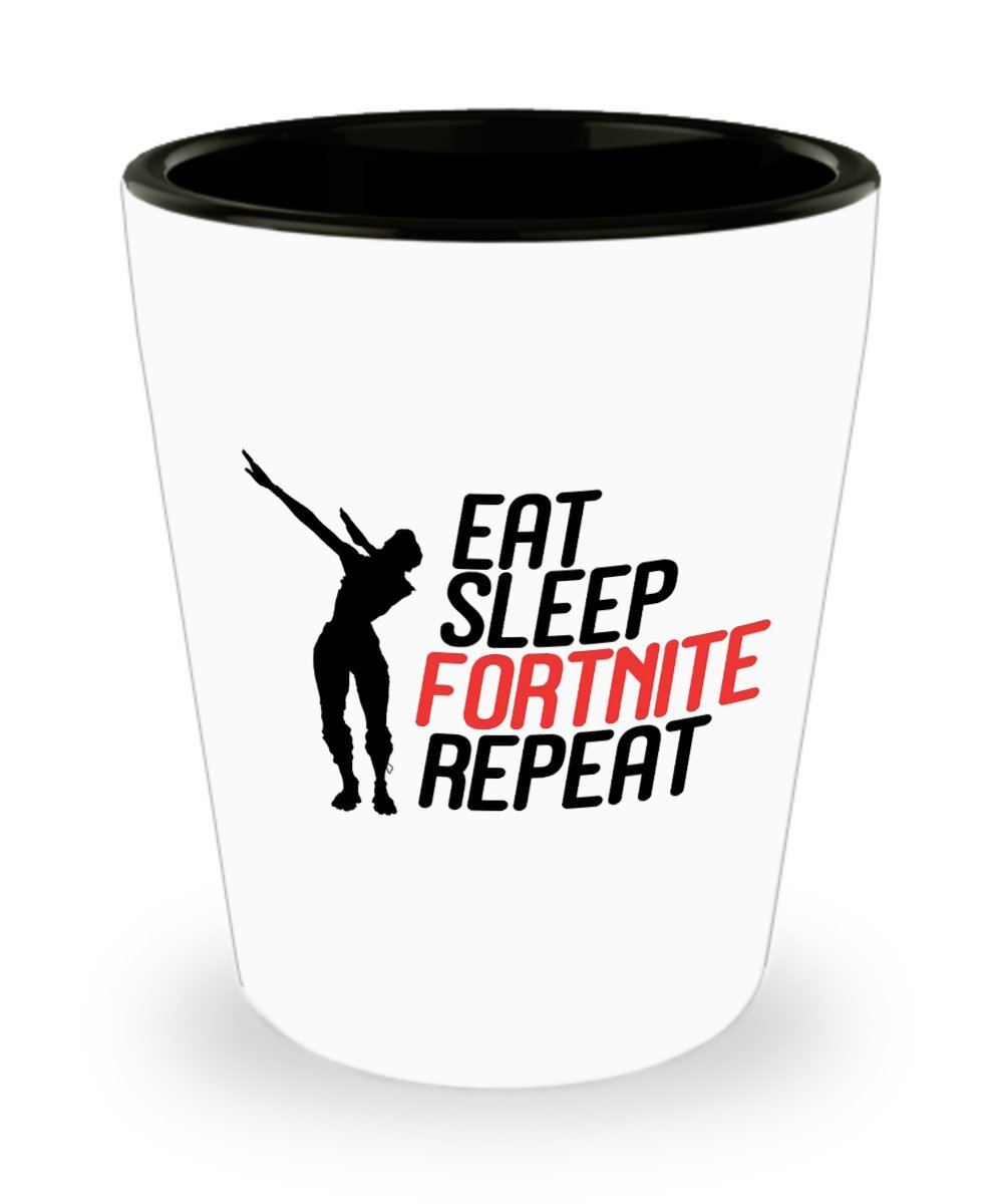 Eat Sleep Fortnite Repeat Coffee Mug Cup (Heat Changing) 11oz Fortnite Battle Royale Game Gear Items Gift Merchandise Shirt Sticker Decal Decor Gearbubble