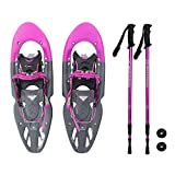 Winterial Yukon Snowshoes 2018/Advanced/Backcountry/Snowshoeing/Women/Pink/All Terrain Snow shoes/POLES INCLUDED!
