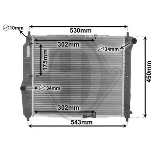Diederichs DCM3599 Radiator, radiator: