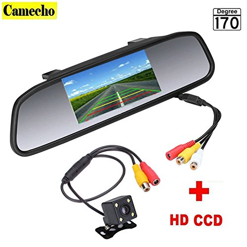 [4.3 inch Car Rearview Mirror Monitor Rear View Camera CCD Video Auto Parking Assistance 4 LED Night Vision Reversing] (3 Ninjas Kick Back Costume)