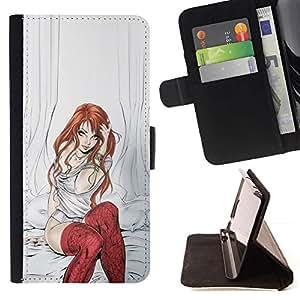 Momo Phone Case / Flip Funda de Cuero Case Cover - Réentendre Sexy Girl Bébé - LG G4