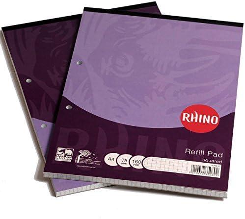 Rhino Übungsbuch, A45mm quadratisch Refill Pad 80Blatt (6Stück) Haq