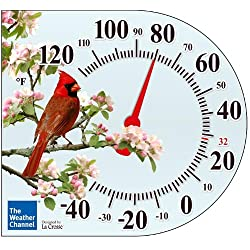 La Crosse Technology  104-106 6 Inch Cling Thermometer with Cardinal design