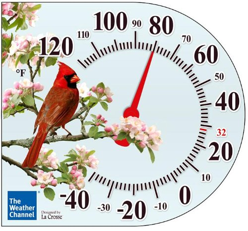 La Crosse Technology  104-106 6 Inch Cling Thermometer with Cardinal design (Window Cling Thermometer compare prices)