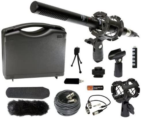 Generic Professional DSLR Microphone Kit for Canon EOS 5D Mark II III 6D 7D 60D 60Da T5i T4i T3i T3 M SL1