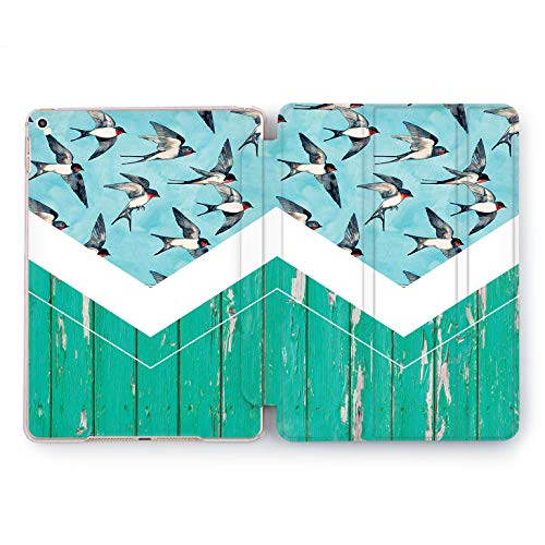 Wonder Wild Swallows Fly iPad Pro Case 9.7 11 inch Mini 1 2 3 4 Air 2 10.5 12.9 2018 2017 Design 5th 6th Gen Clear Smart Hard Cover Animals Birds Sky Swifts Painted Fence Structural Pattern Stylish ()
