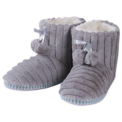 de38bf3f0fc Forfoot Women's Cozy Fleece House Indoor Slipper Boots durable ...