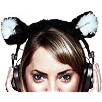 Headphone and Headset Cover Headphone and Headset Cover for Bose, AKG, Sennheiser, Sony, Beats, Audio-Technica, Turtle Beach, Astro, Razer, Afterglow, SteelSeries - Black Kitty Cat - HeadGames